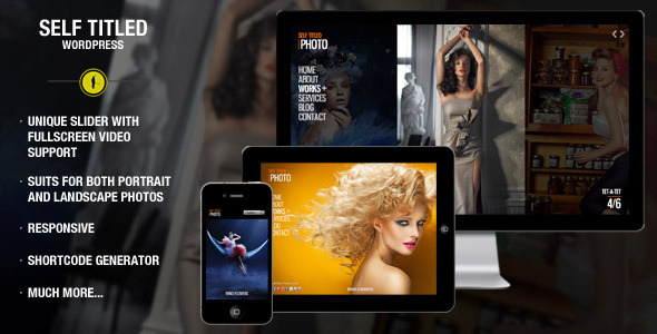 ThemeForest Self Titled responsive & unique WordPress theme 3561320