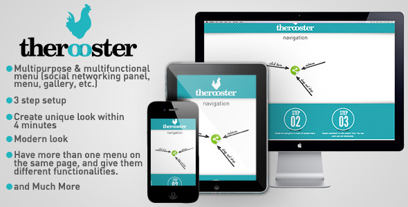 CodeCanyon TheRooster Multipurpose Menu 3561499
