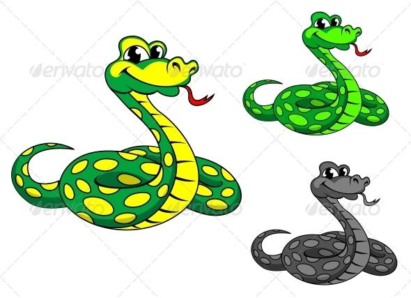 GraphicRiver Funny Cartoon Python Snake 3561780