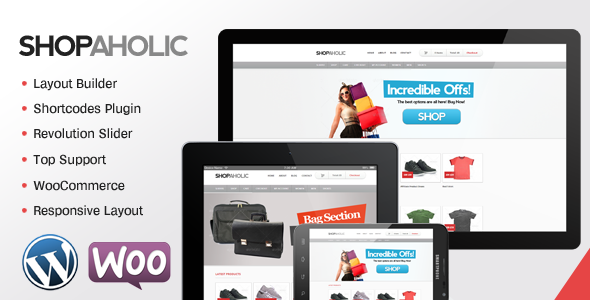 Shopaholic - Powerful WordPress ECommerce Store - ThemeForest Item for Sale