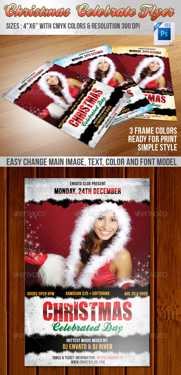 GraphicRiver Christmas Celebrate Flyer 3485721