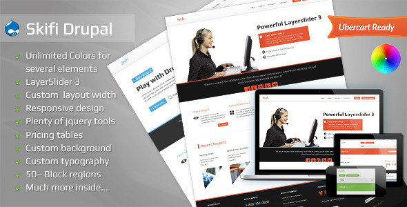 Skifi - Bootstrap Drupal theme - Corporate Drupal