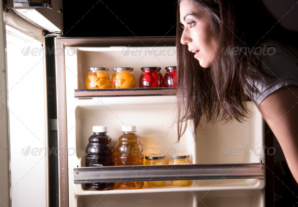 Fridge Raid - Stock Photo - Images