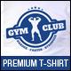 Bodybuilding Gym Club T-Shirt Template - GraphicRiver Item for Sale