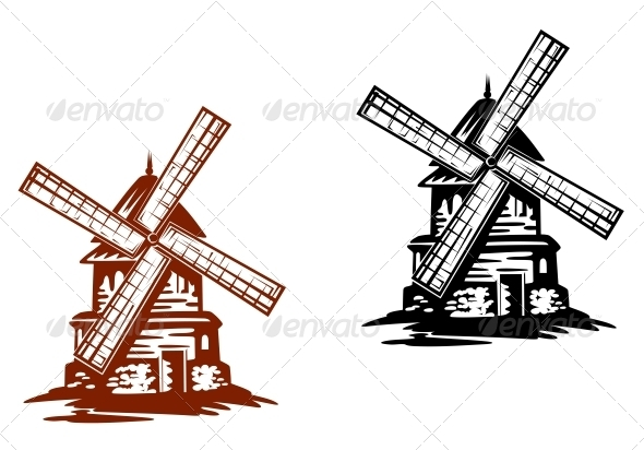 GraphicRiver Ancient Windmills 3562273