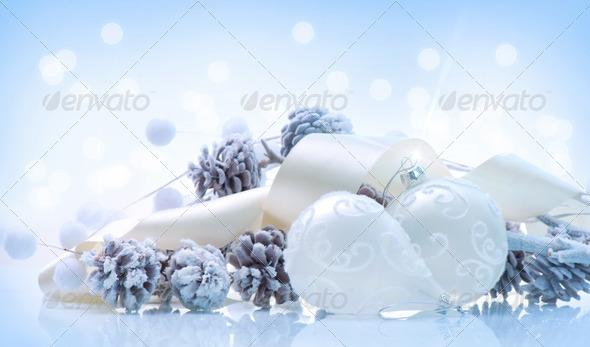 Christmas. Holiday Decorations. Bauble - Stock Photo - Images