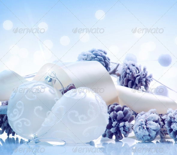 Christmas. Holiday Decorations. Baubles - Stock Photo - Images