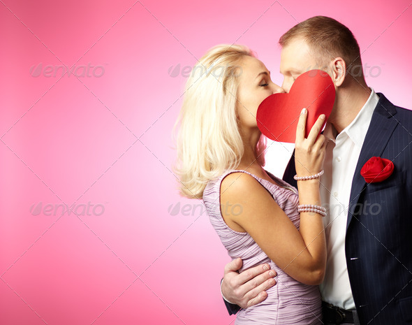 Kiss of love - Stock Photo - Images