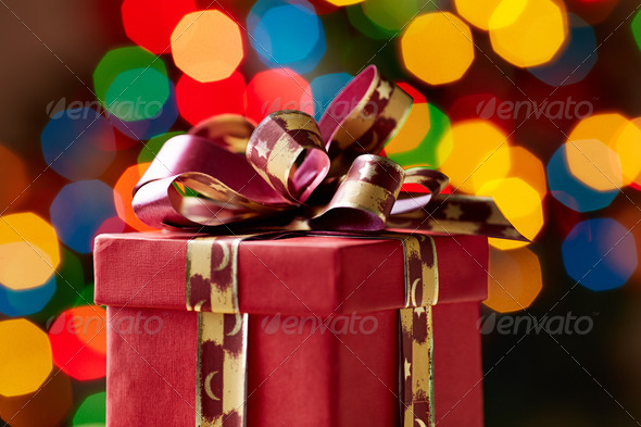 Christmas gift - Stock Photo - Images