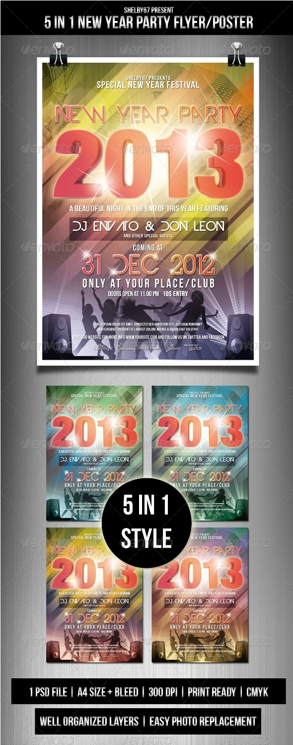 GraphicRiver New Year Party Flyer Poster 3563275