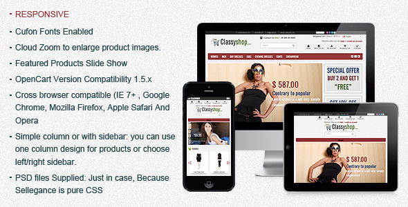 ThemeForest ClassiShop OpenCart Template 1930979