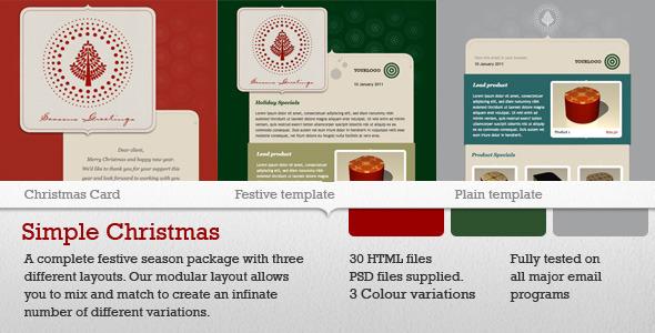 Plantilla de Mailing de Navidad Simple