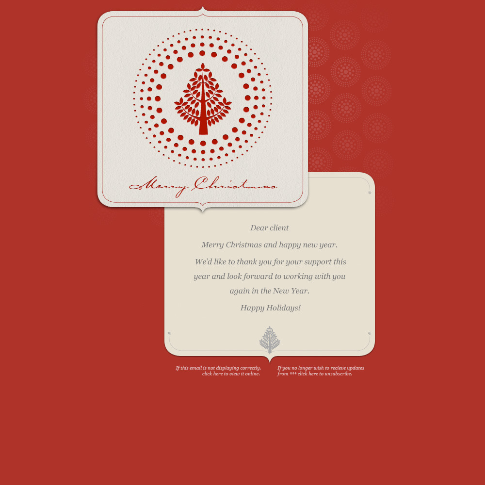 Simple Christmas - Christmas Card on red background