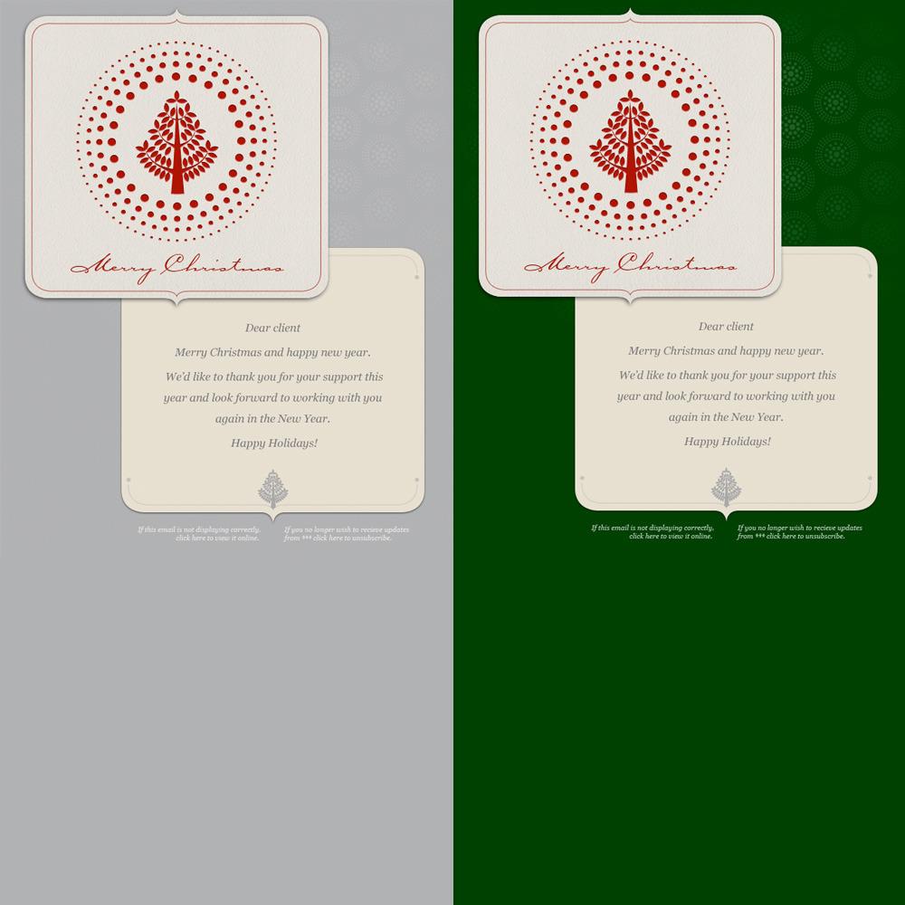 Simple Christmas - Christmas Card alternative colour versions