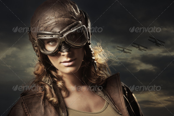 Woman Hero - Stock Photo - Images