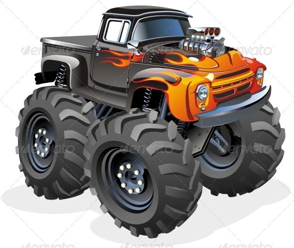 GraphicRiver Cartoon Monster Truck 3563764