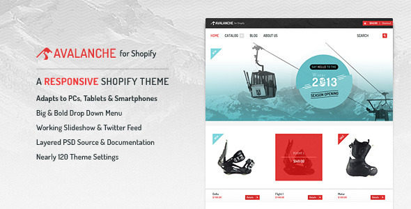 Avalanche for Shopify — Responsive Premium Theme Download