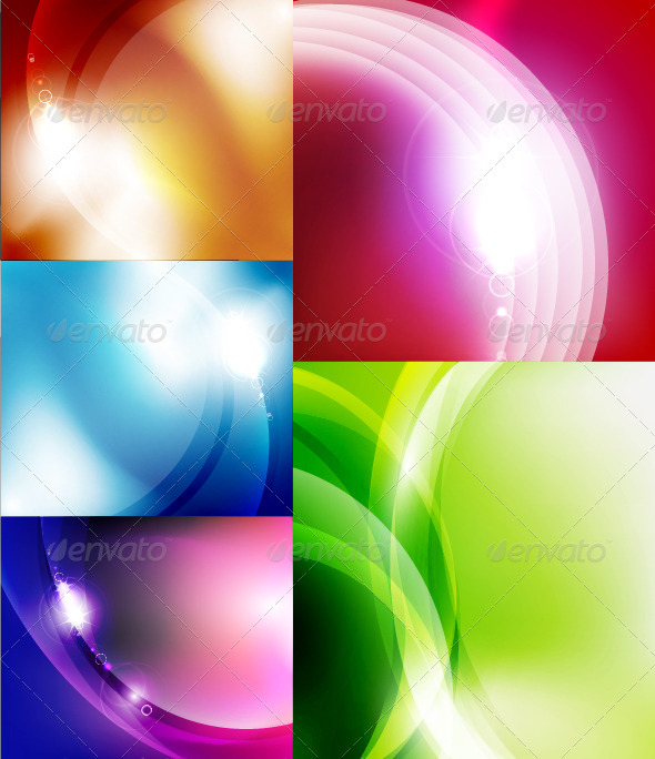 Vector Shiny Glossy Waves Backgrounds