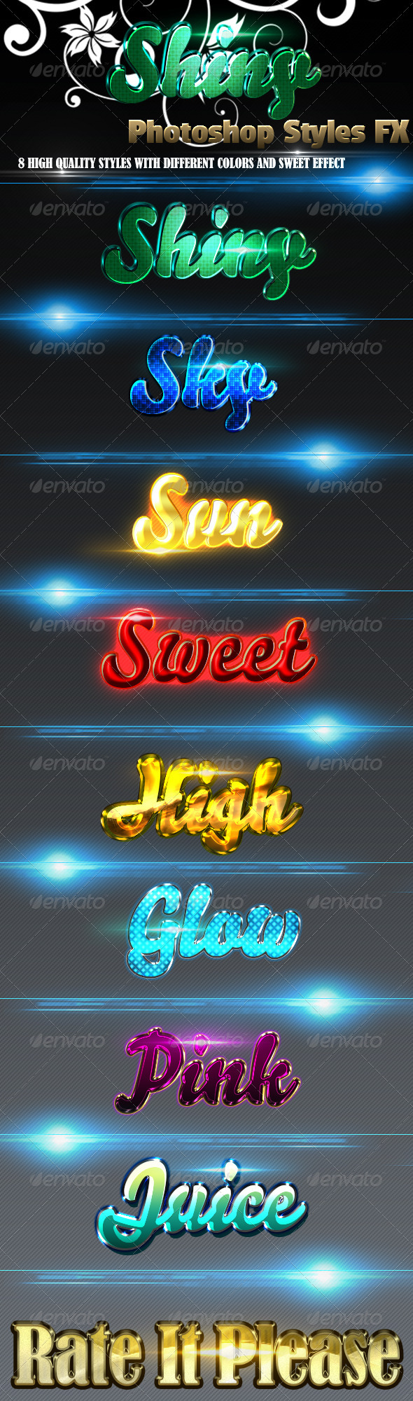 GraphicRiver Shiny Styles 3564475