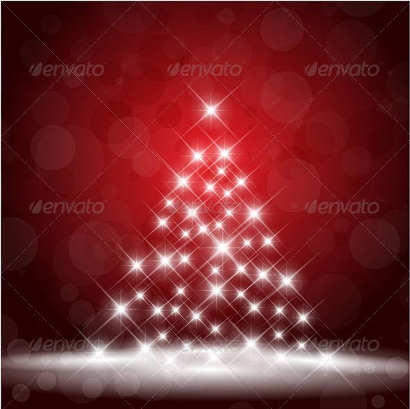 GraphicRiver Starry Christmas Tree 3564544