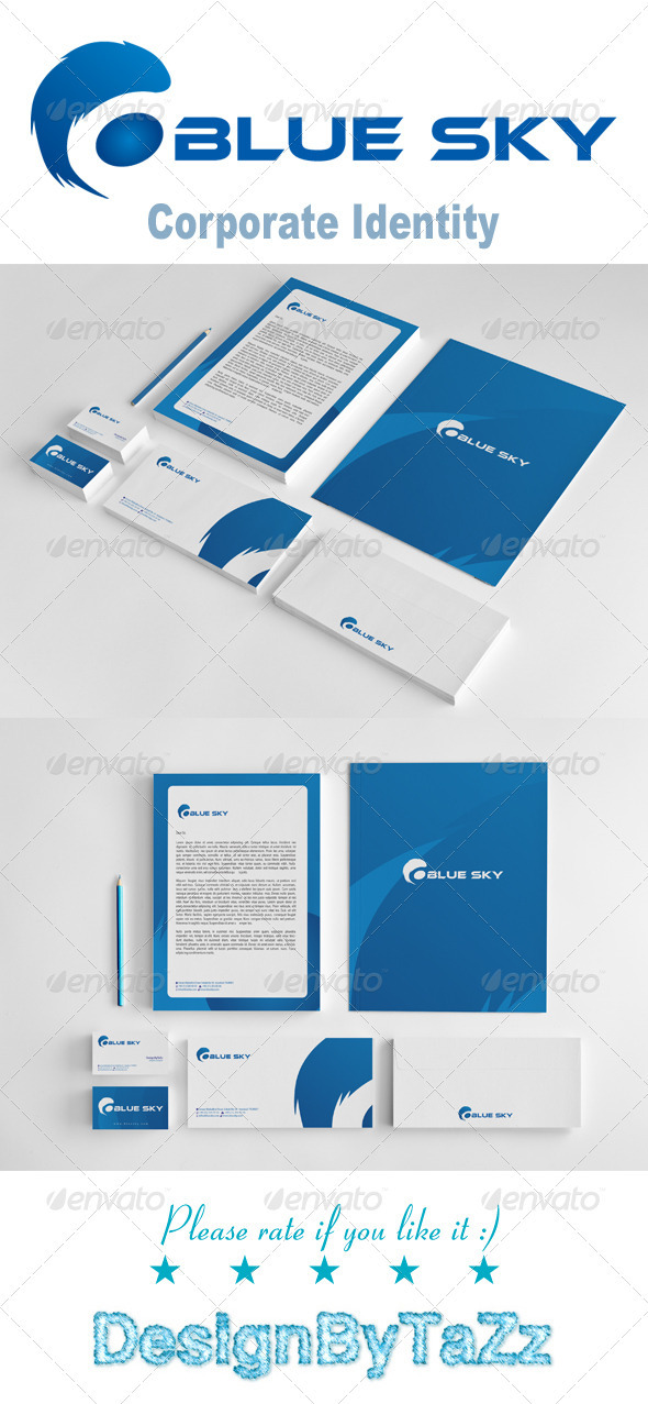 GraphicRiver Blue Sky Corporate Identity Package 3564581