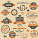 Coffee Stamps and Label Design - GraphicRiver Item for Sale