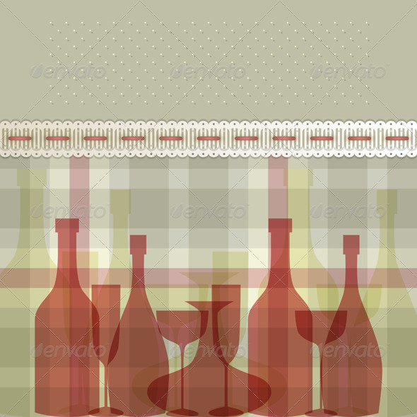 GraphicRiver Red Bottles 3564747
