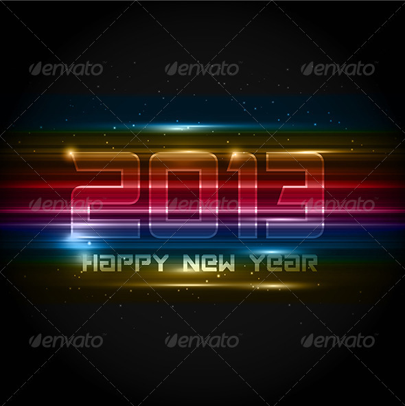 GraphicRiver New Year Background 3564842