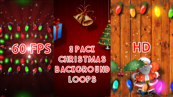 3 Pack Christmas Loops