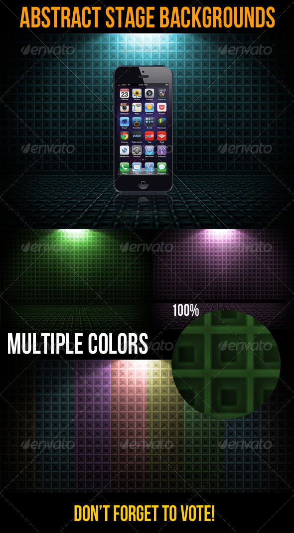GraphicRiver Abstract Stage Backgrounds 3534687
