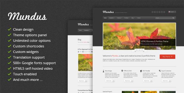 ThemeForest Mundus Business and Portfolio WordPress Theme 3567333
