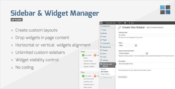 CodeCanyon Sidebar & Widget Manager for WordPress 2287447