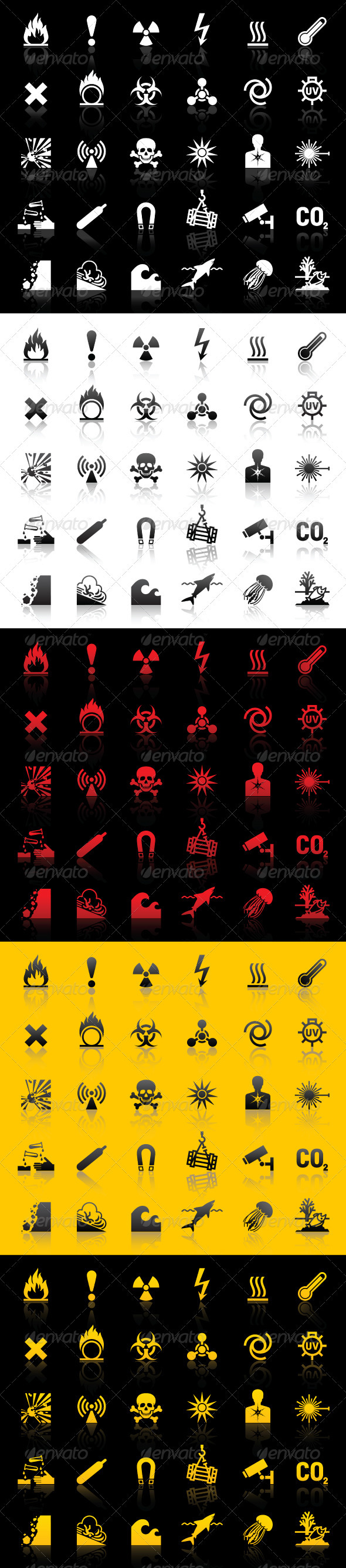 Symbols - Hazard warnings - Man-made objects Objects