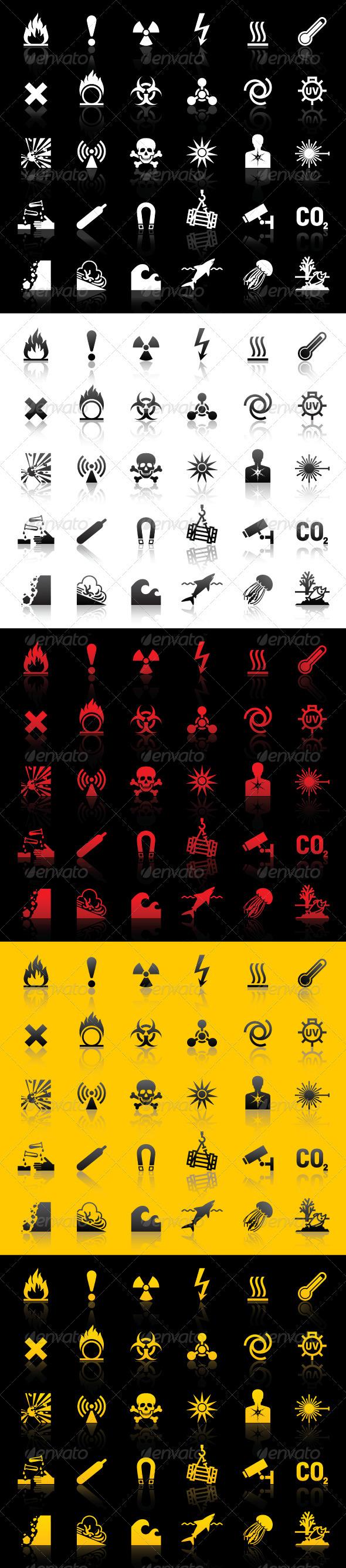 GraphicRiver Symbols - Hazard warnings 3567478