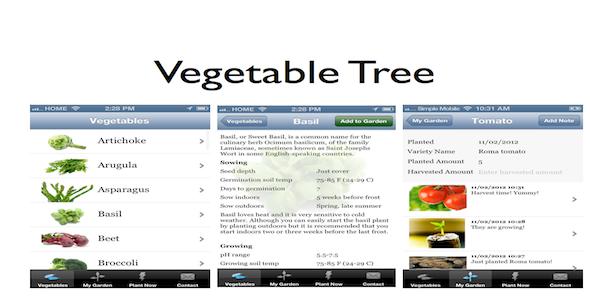 CodeCanyon Vegetable Tree Gardening Guide iPhone App 3567517