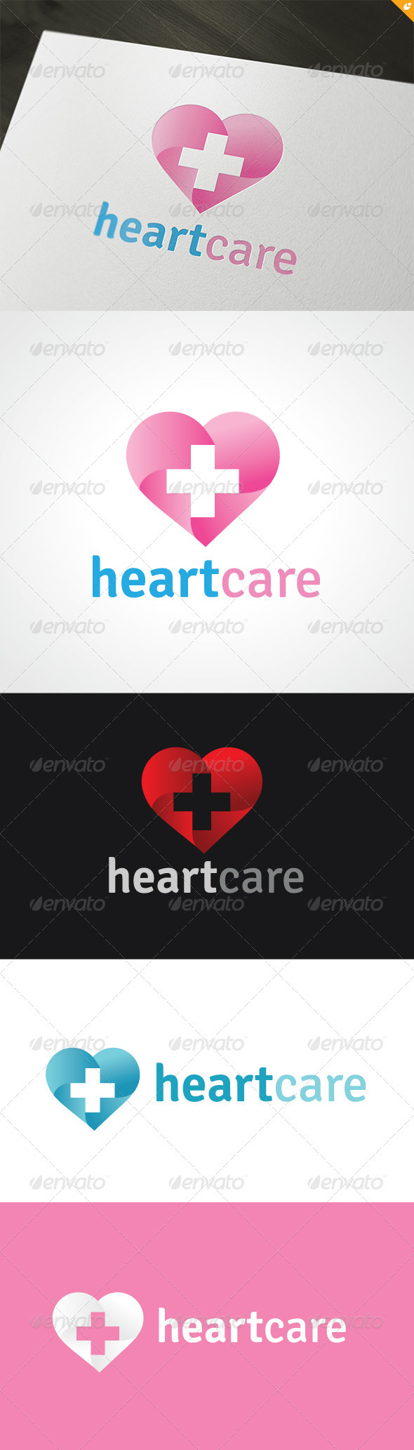 GraphicRiver Heart Care Logo 3567559