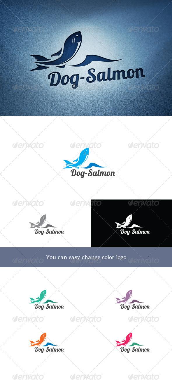 Dog-Salmon - Animals Logo Templates
