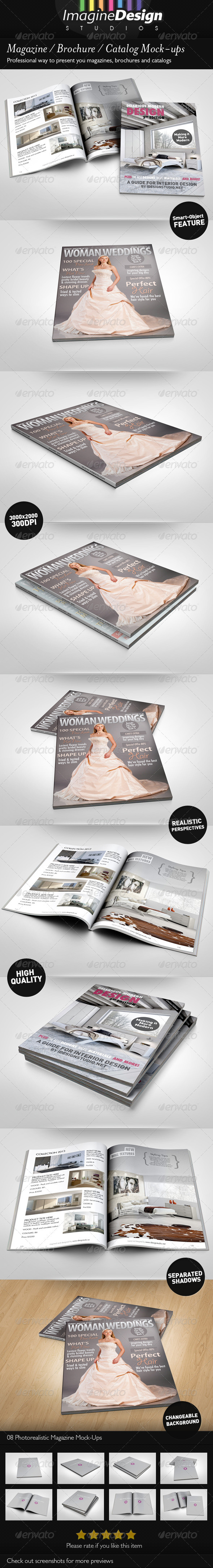 GraphicRiver Photorealistic Brochure Magazine Mock-up 3567718