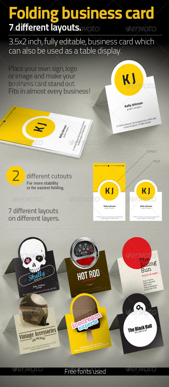 GraphicRiver Folding Business Card 3515400