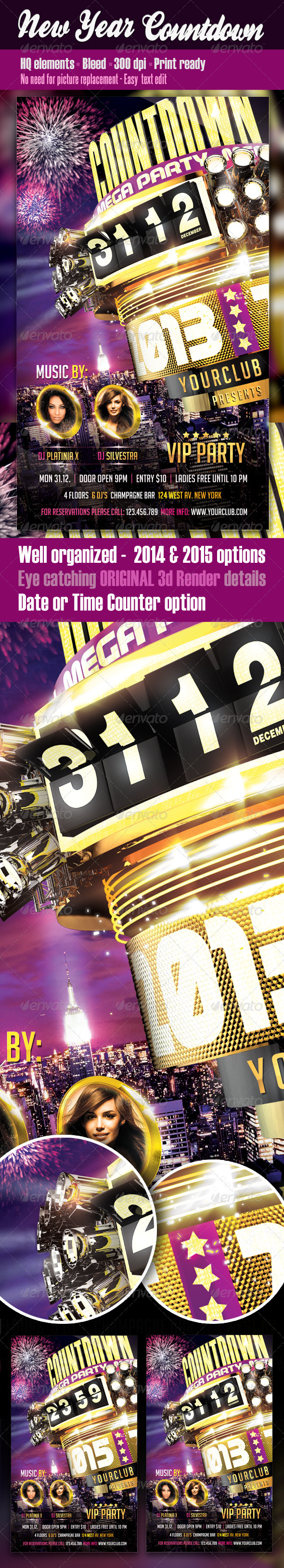 New Year Countdown Flyer - Clubs & Parties Events