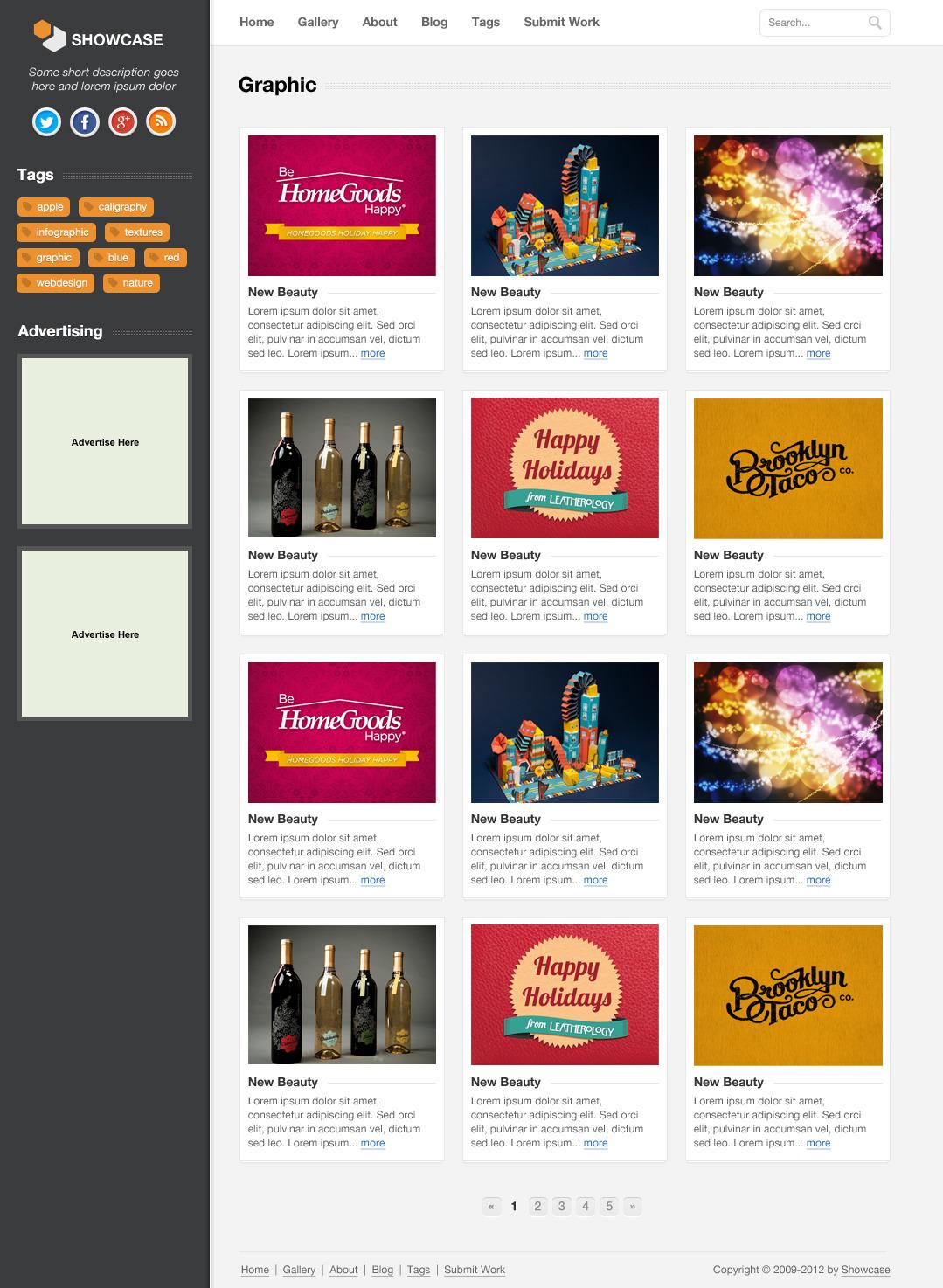 Showcase - Creative PSD Template