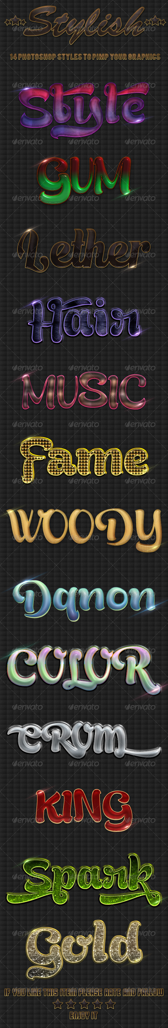 Stylish Styles - Text Effects Styles