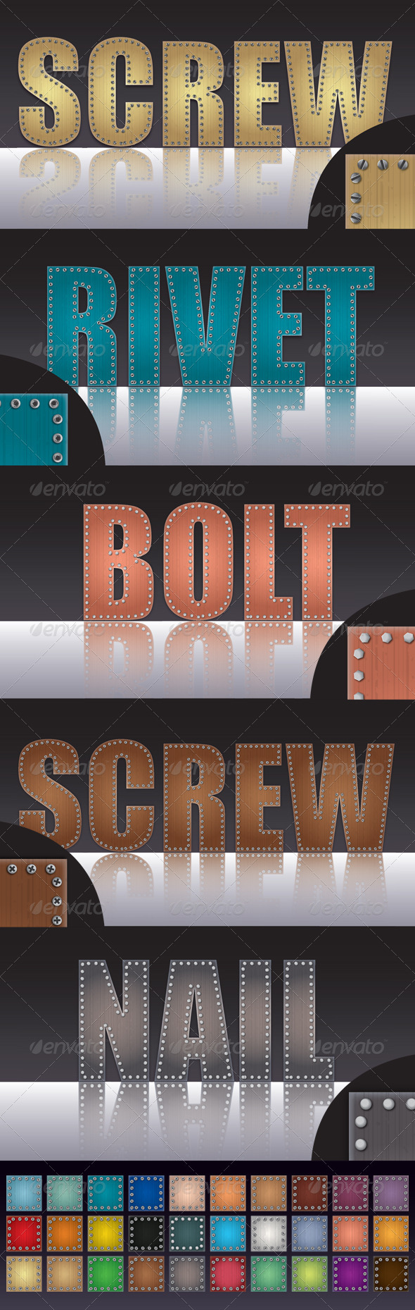 GraphicRiver Screwed Bolted Nailed and Riveted Wooden Graphic Style 3567820