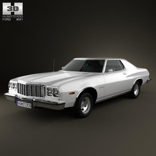 3DOcean Ford Gran Torino hardtop 1974 3568161