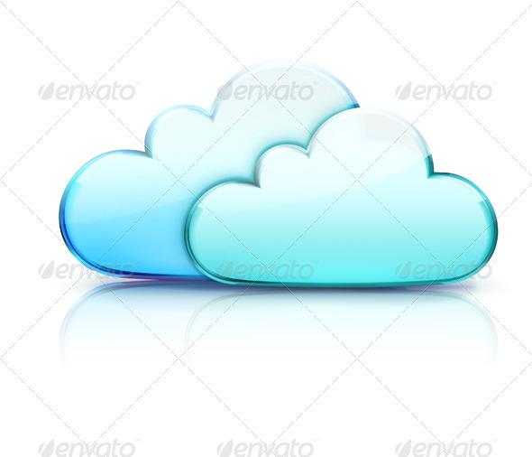 GraphicRiver Cloud Storage Concept 3568254
