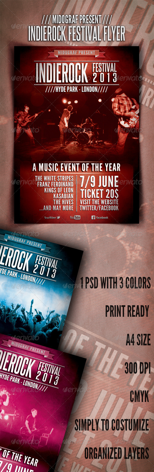 GraphicRiver IndieRock Festival Flyer 3568269