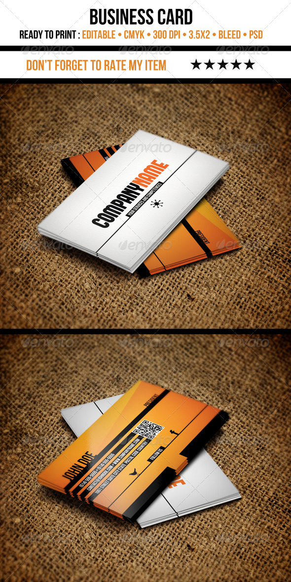 GraphicRiver Corporate Business Cards 3568290