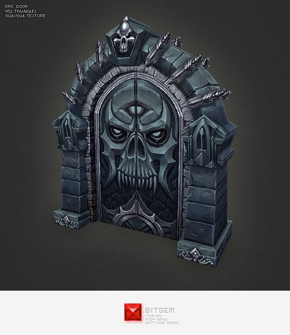 Low Poly Epic Door - 3DOcean Item for Sale
