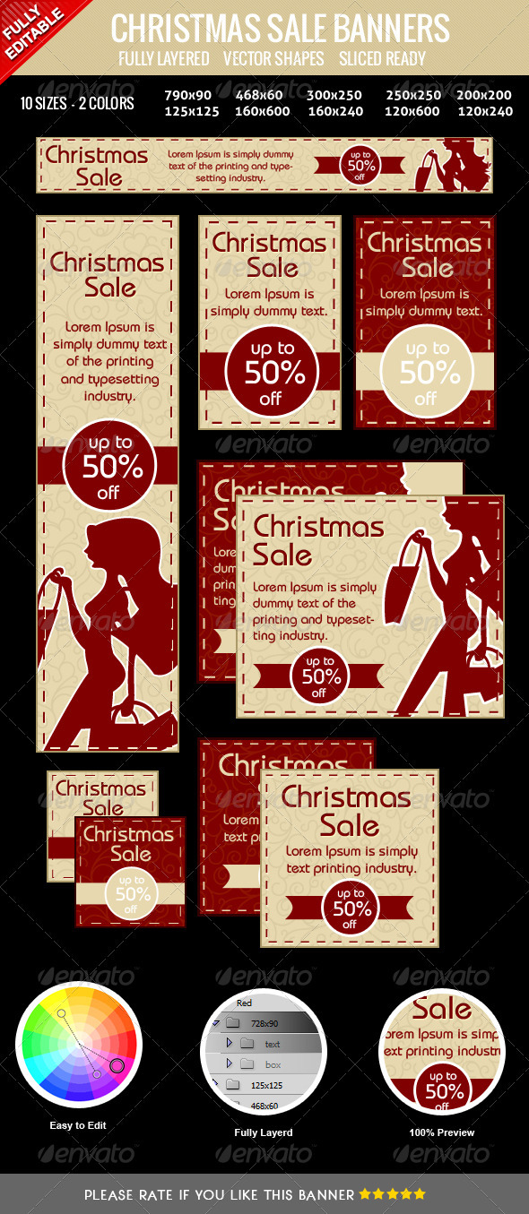 GraphicRiver Christmas Sale Banners 3568830