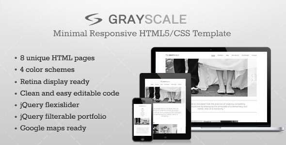 GrayScale - Responsive HTML5/CSS3 template - Corporate Site Templates